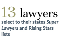 13 lawyers selected to their state's 2015 Super Lawyers and Rising Stars list