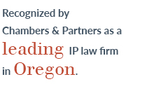 Recognized by Chambers & Partners as a leading IP law firm in Oregon