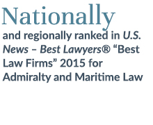 Nationally ranked Admiralty and Maritime Law
