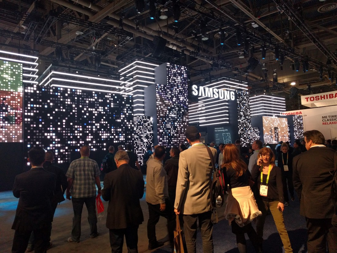 Samsung's Brick Wall Display