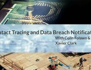 Contact Tracing and Data Breach Notification