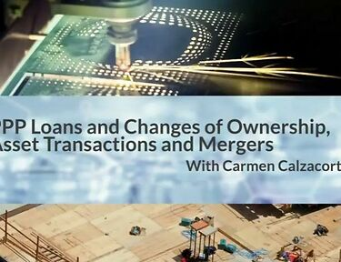 PPP Loans and Changes of Ownership Asset Transactions and Mergers